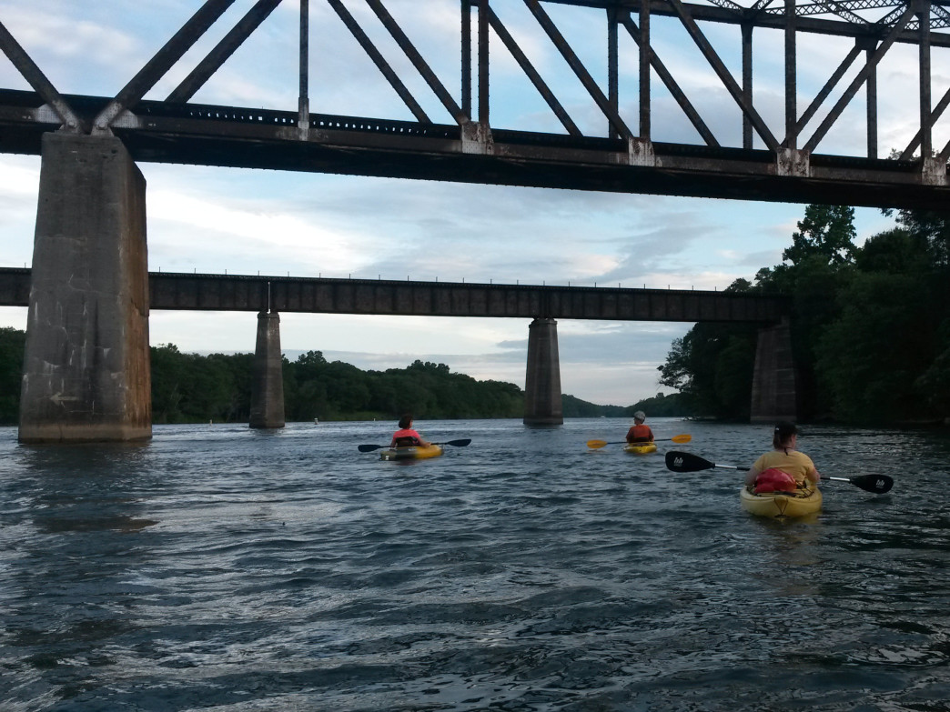 Paddling the Catawba at sunset is the ultimate destressor