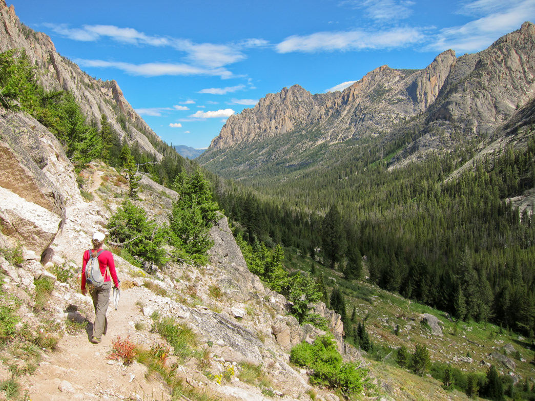 Chock-full of craggy peaks, the Sawtooth Wilderness lives up to its name.