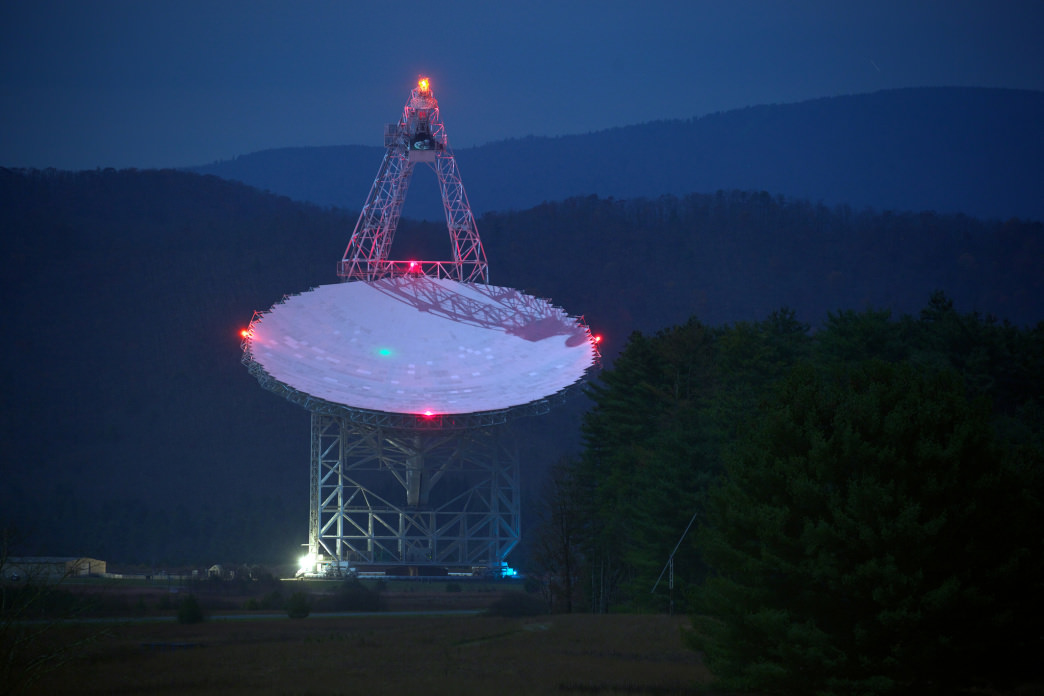 The Robert C. Byrd Green Bank Telescope is larger than the Statue of Liberty and easily dwarfs the landscape around it.     Ricky Montalvo