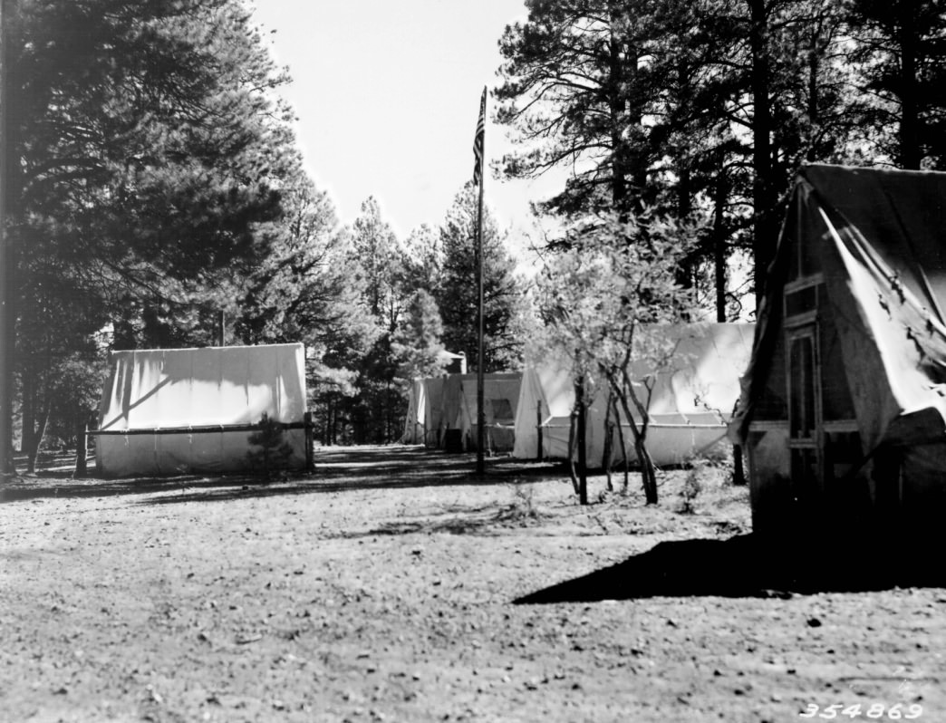 Jacob Lake ERA camp, mid-1930s.