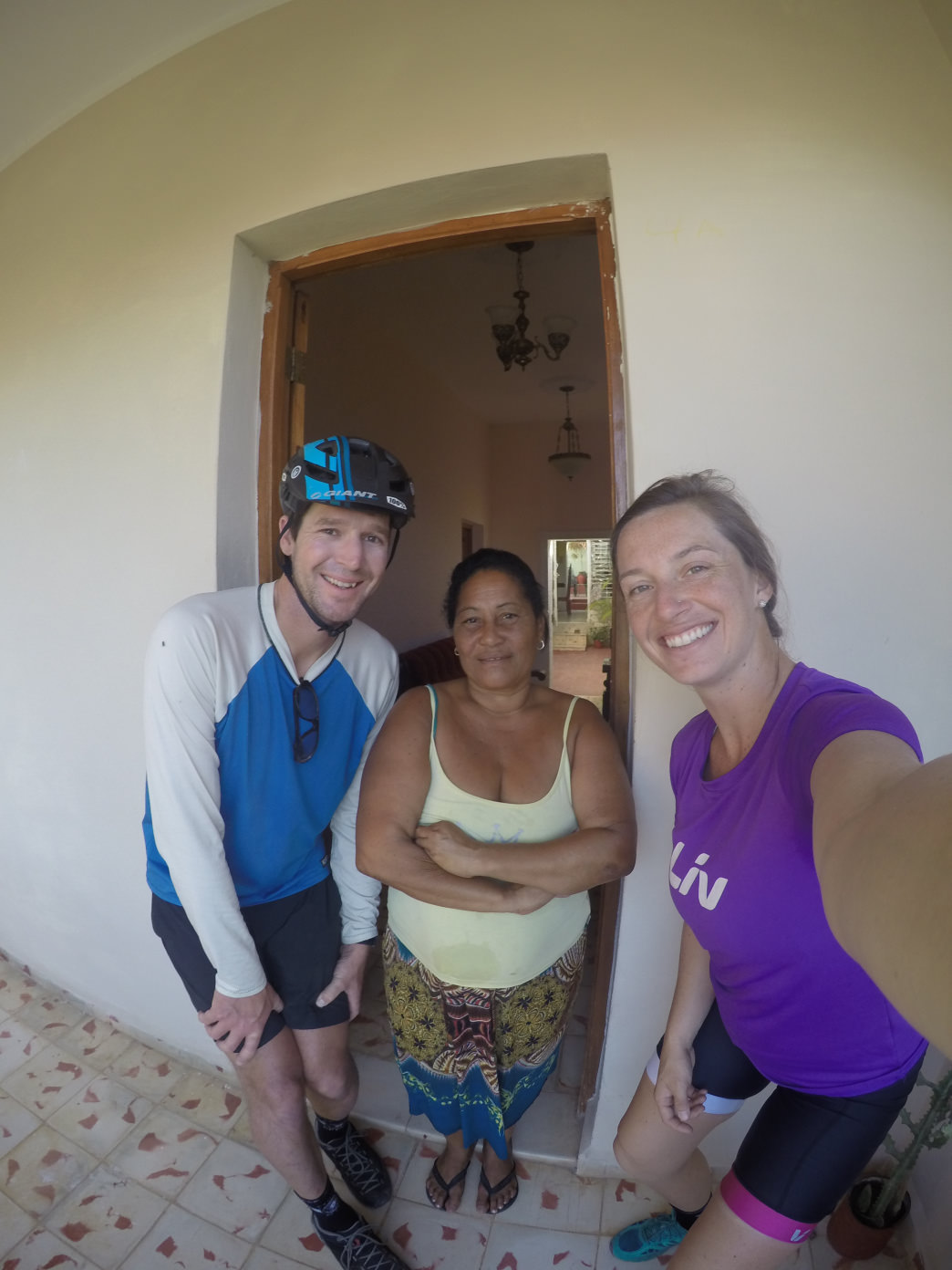 All smiles with Madelin—an incredible host and savior for two weary travelers.     Elizabeth Walker