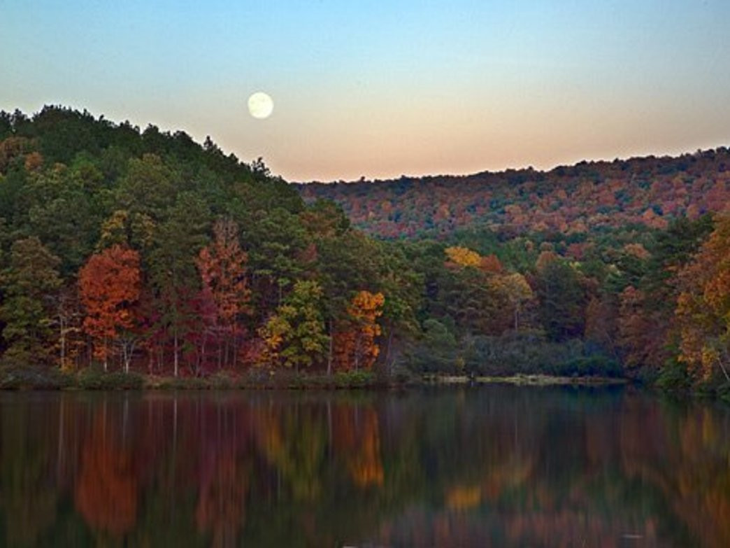 Oak Mountain State Park, at just 60 miles from Tuscaloosa, offers nearly 10,000 acres for outdoor enthusiasts.