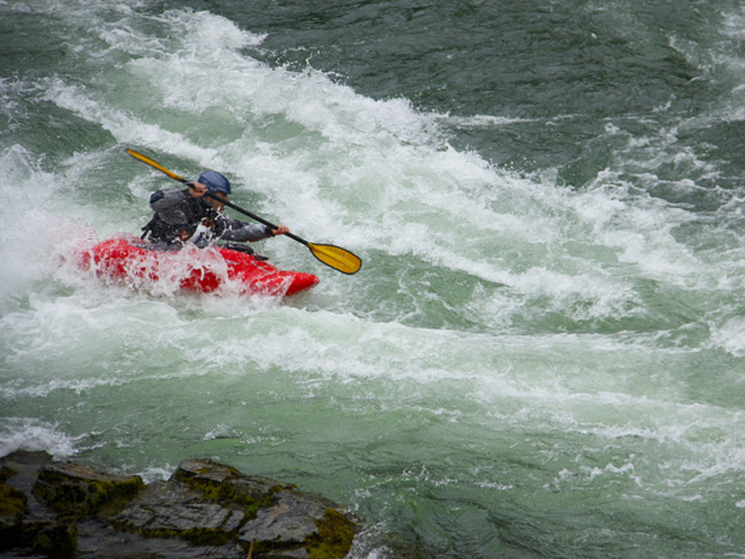 The Upper Clackamas River's rapids are popular with whitewater paddlers.