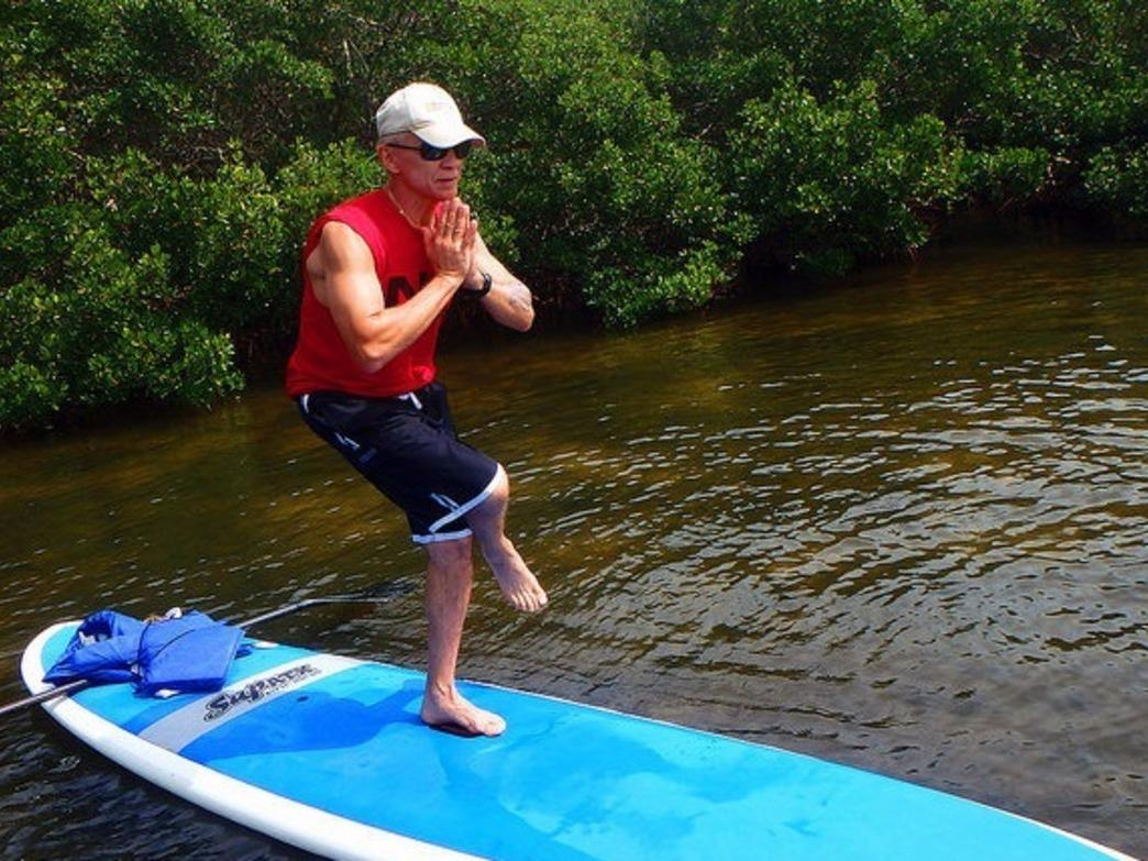 Some people even use their SUP as a place to practice yoga.