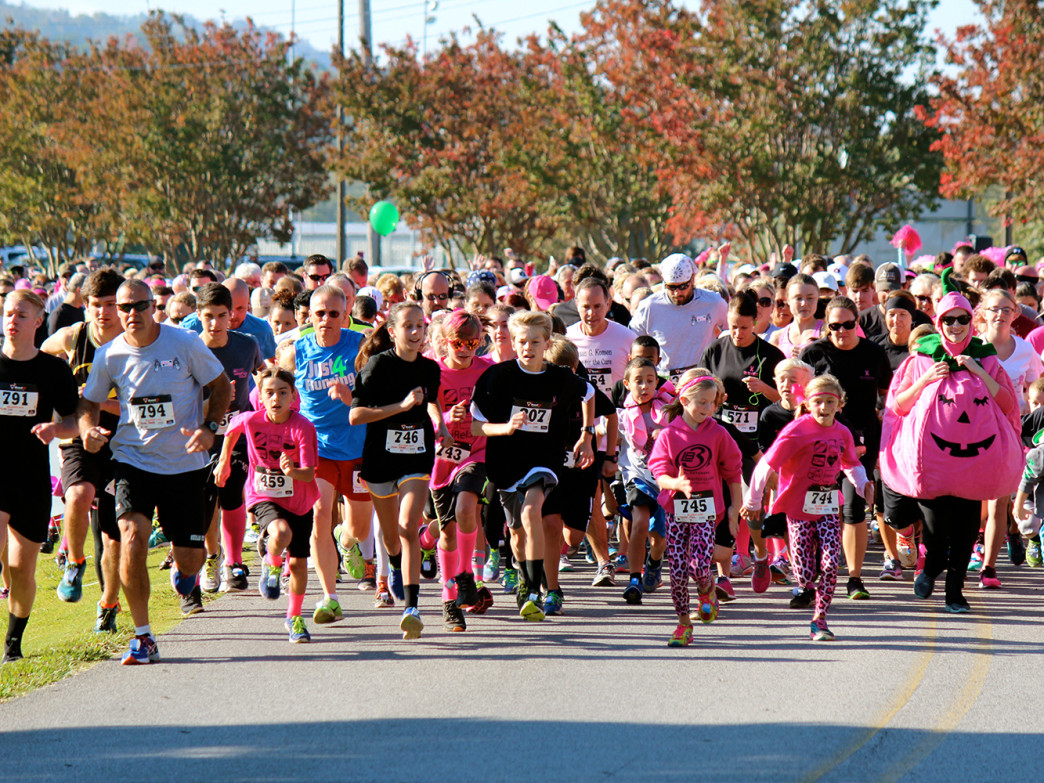 Expect lots of costumes at the Pink Pumpkin 5k this year, held on Saturday, October 31.