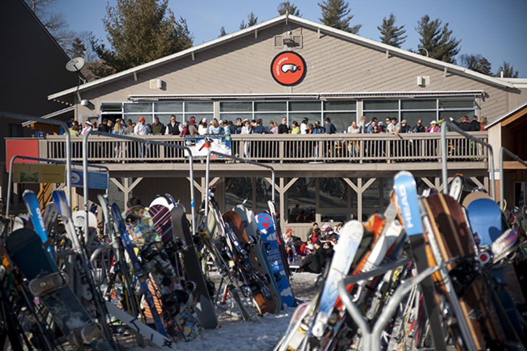 Take advantage of outdoor dining on the mountain at Sunday River.