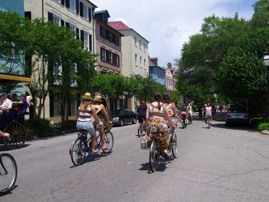 If you want to catch a glimpse of Charleston from the streets, do it on a bike.