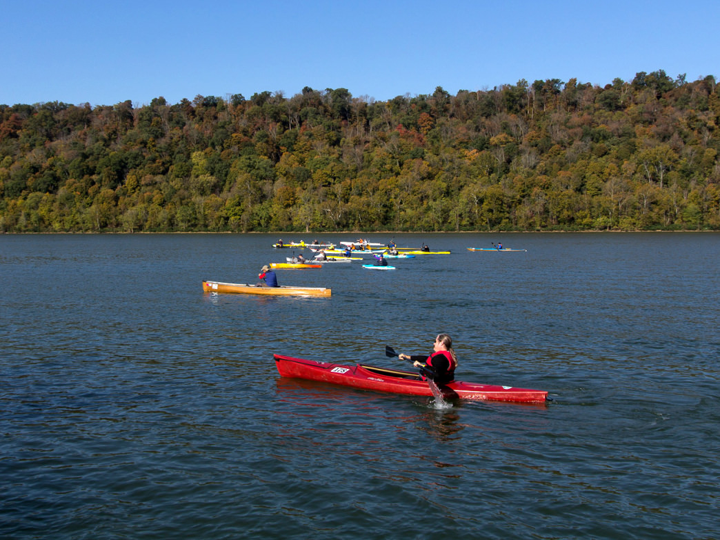 The Riverthon has several race options for different levels of paddlers.