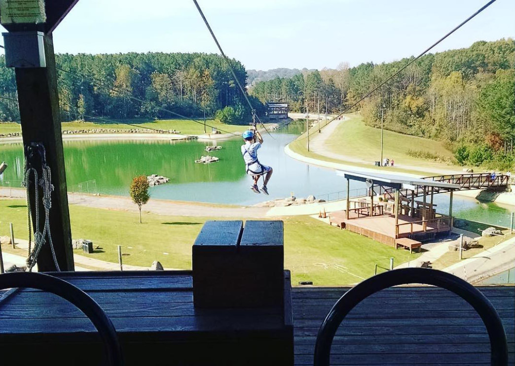 Ziplining at the U.S. National Whitewater Center won't disappoint.     @__npphoto__