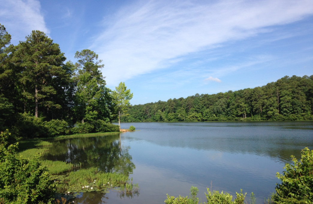 Double Oak Lake at Oak Mountain State Park.