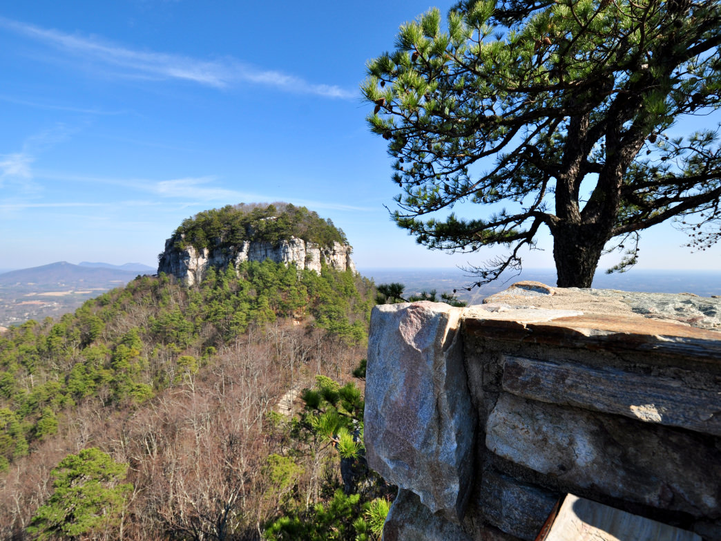A view of Pilot Mountain from Little Pinnacle.