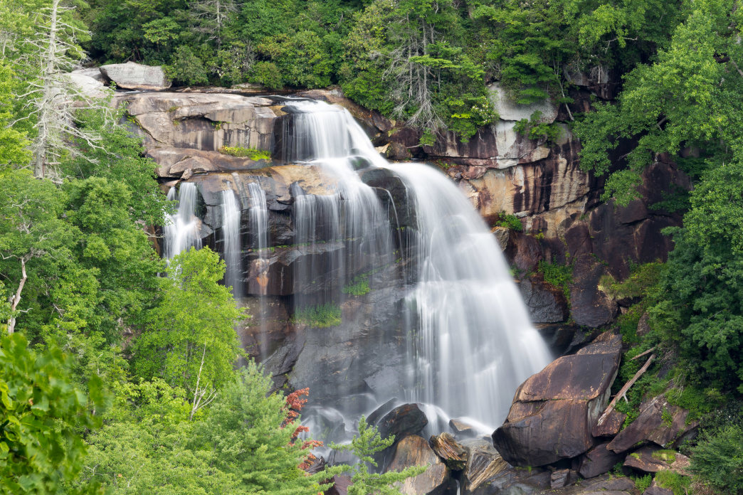 Hike to Whitewater Falls, the highest waterfall east of the Mississippi River, near Cashiers.