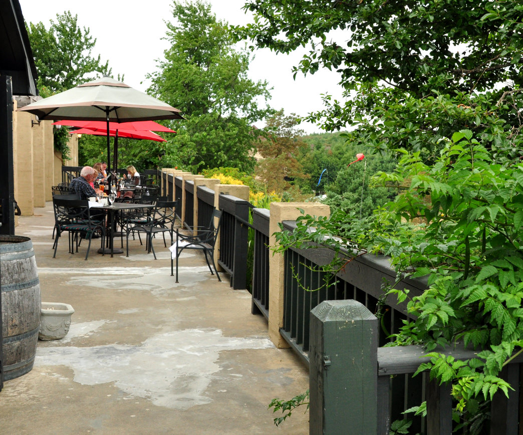 The Chateau Morrisette Winery offers a relaxing setting to taste its fine wines.