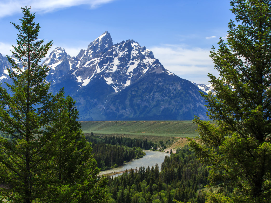 Summer in the Grand Teton National Park is paradise for trail runners.