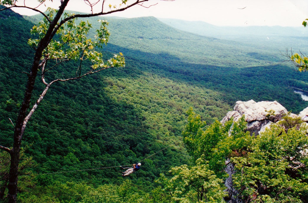 A spectacular view from Cheaha State Park's Rock Garden Trail.