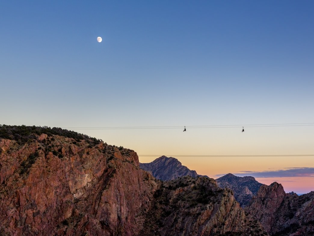 The zip line that spans the Royal Gorge is one-of-a-kind
