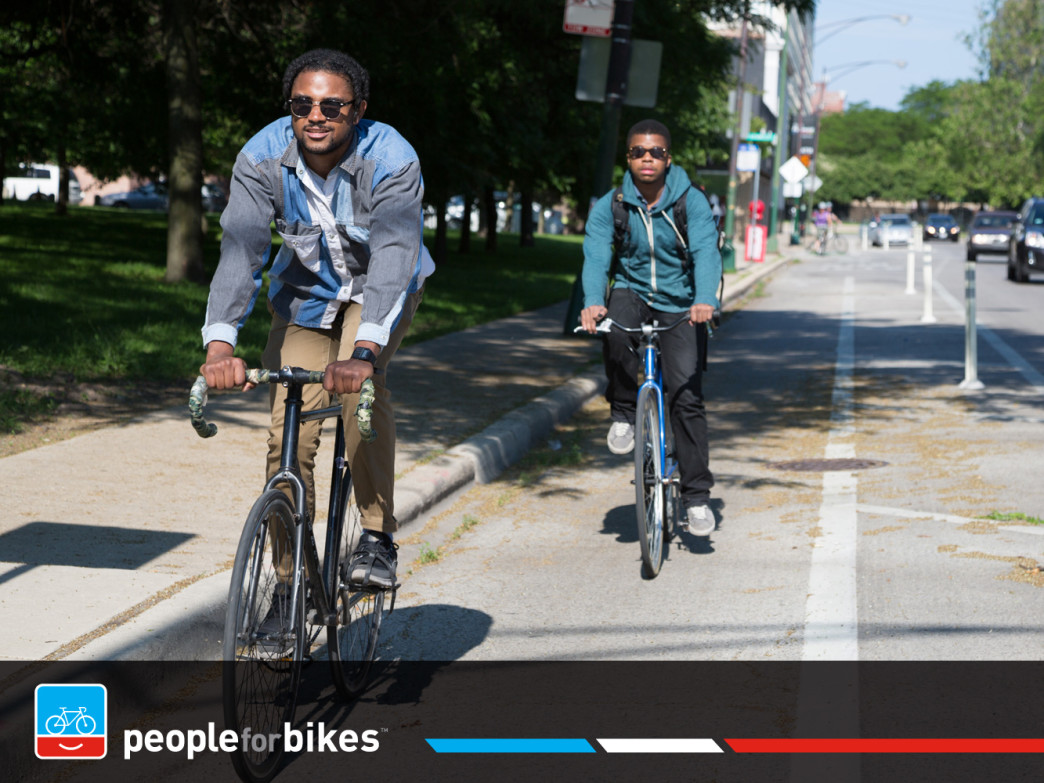 Separated bike lanes help cyclists feel safer on busy city streets.