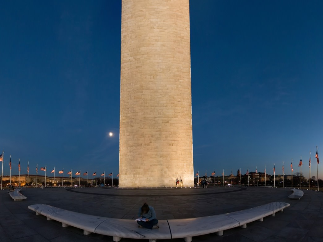 A trip down the National Mall includes a run past the Washington Monument.