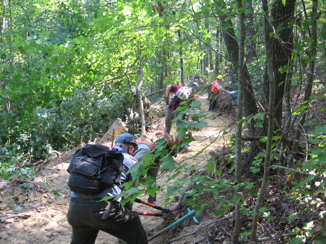 Many trail angels put in untold hours helping to maintain trails.