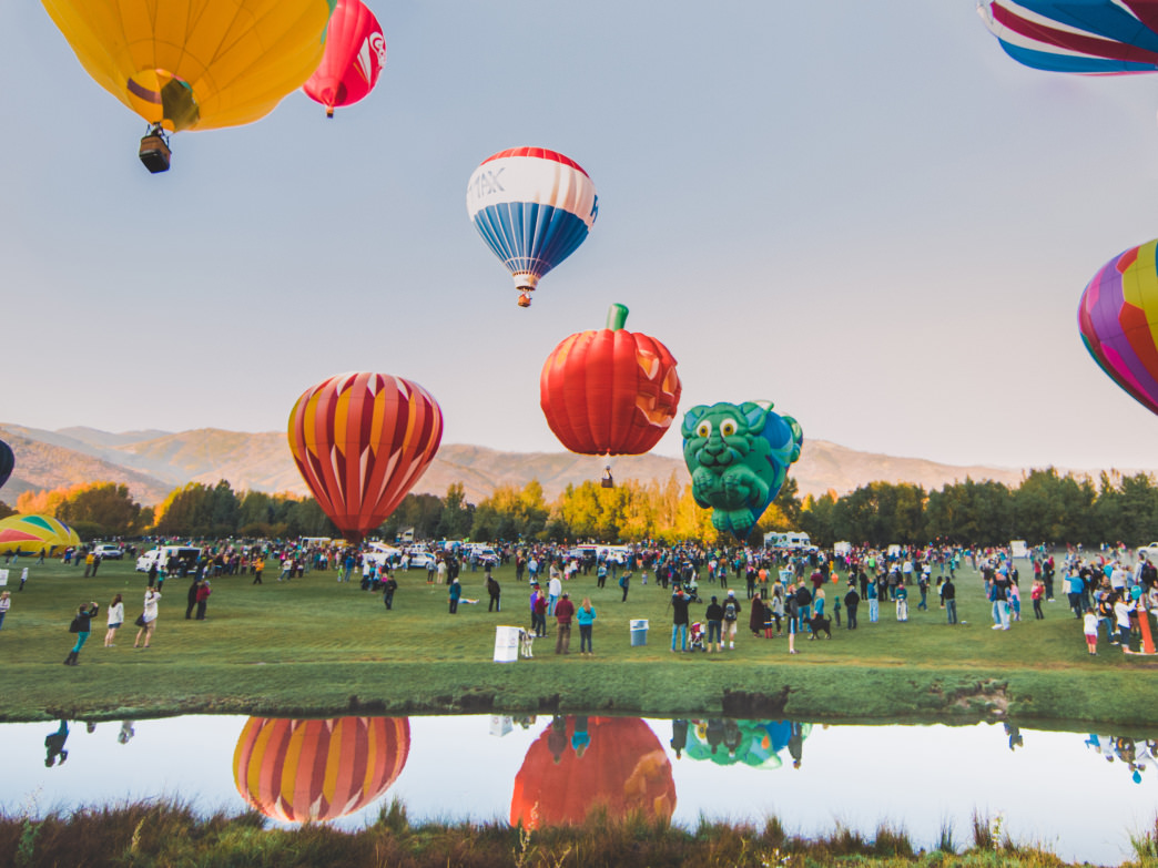 Even if heights aren't your thing, take advantage of the colorful flight of the hot air balloons by watching them take off!