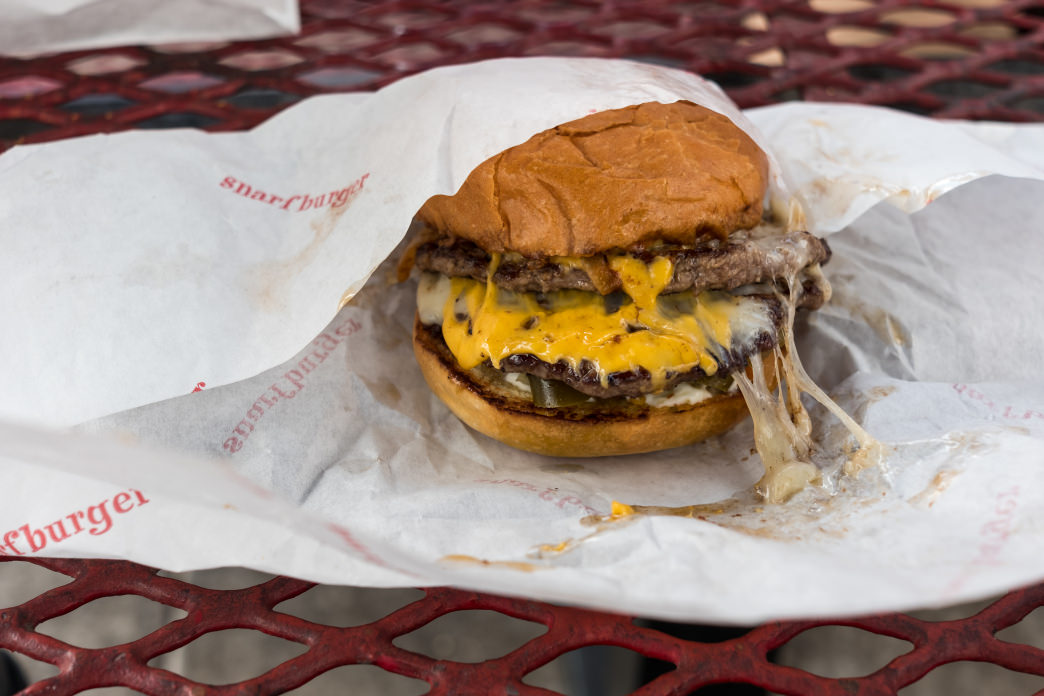 You're going to want a workout after a Snarfburger