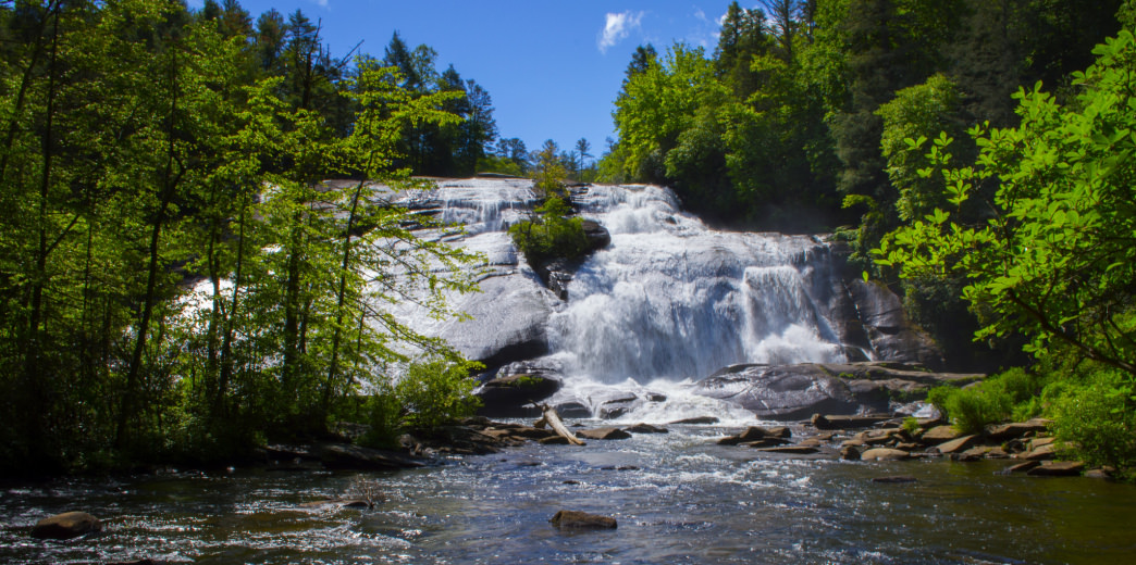 The many falls of Dupont State Forest provide a welcome respite during summer long runs.