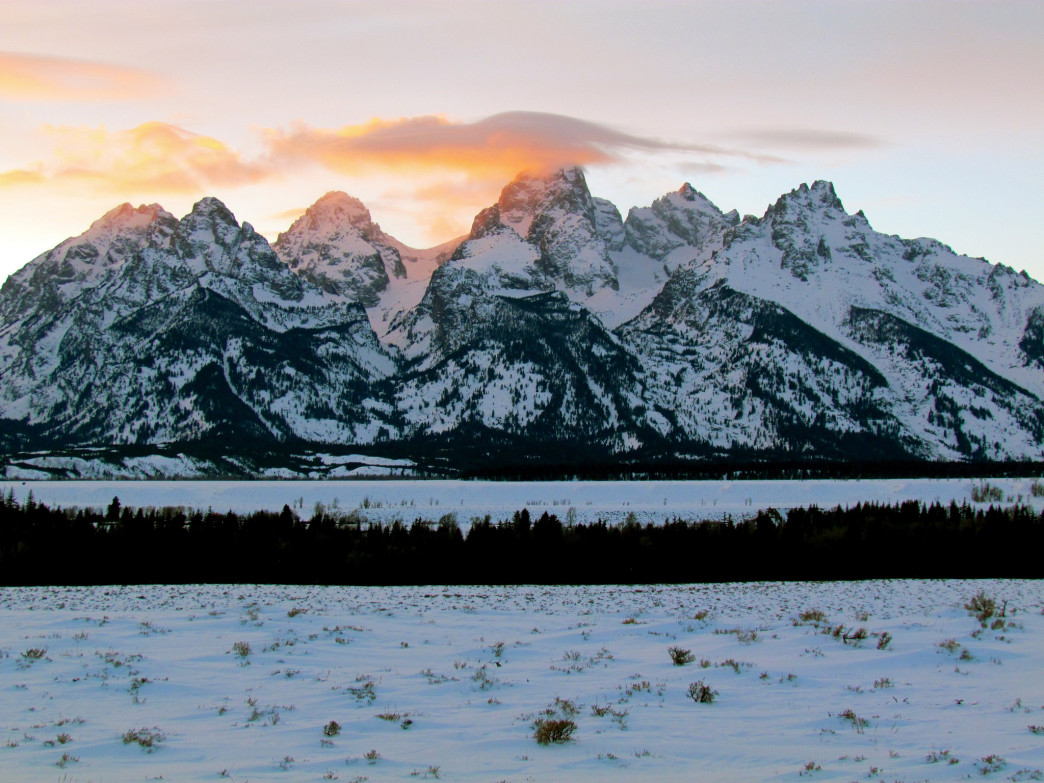Sunset offers epic views in Grand Teton National Park.
