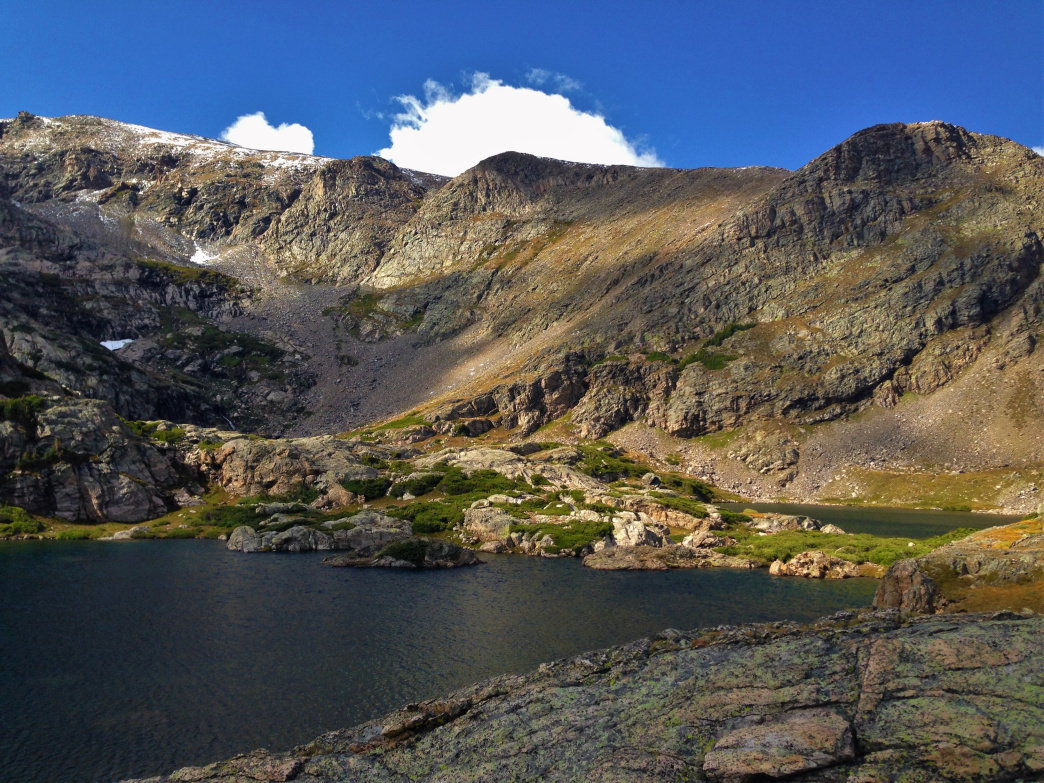 Trek into the James Peak Wilderness to see Reynold's and Stuert lakes.    Graham Silver