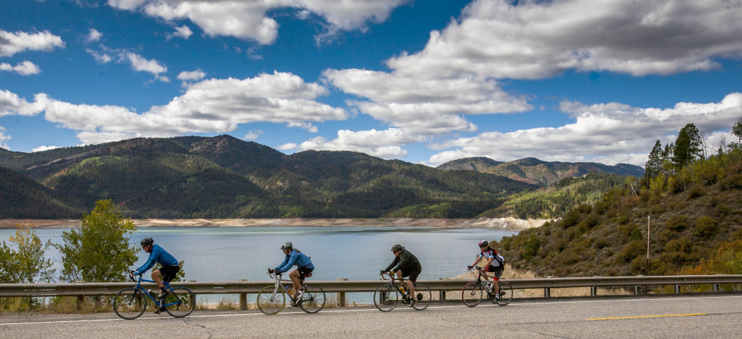 Watch for wildlife as you pedal along the region's backcountry roads.