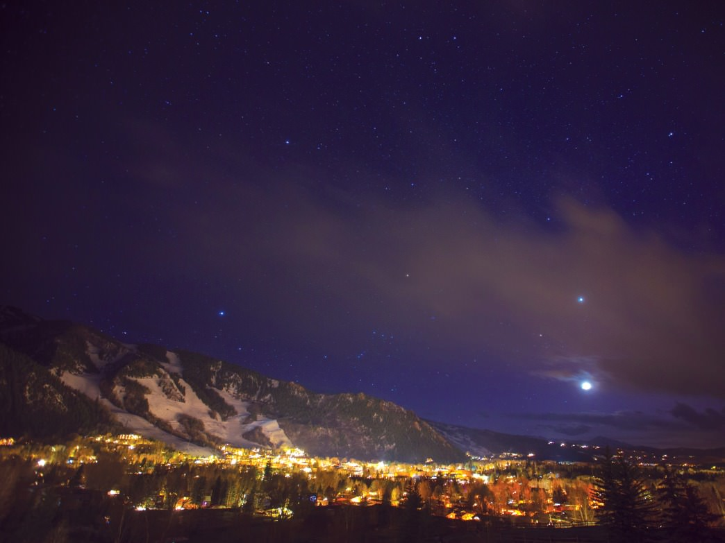 Aspen is an ideal place for nighttime photography.