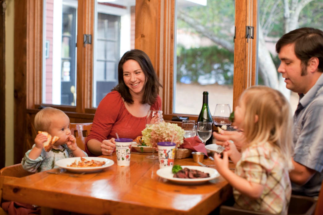 Dinner options for the whole family abound at Smuggs and in town.