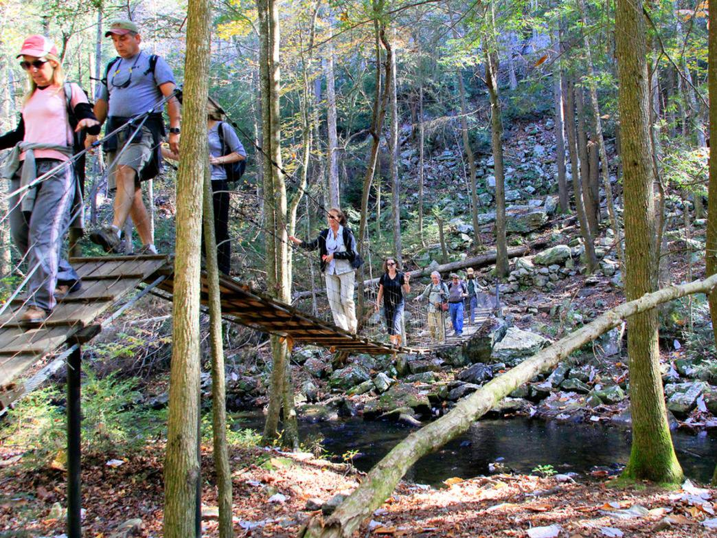 Swinging bridges are just some of the highlights of this favorite Tennessee hiking trail