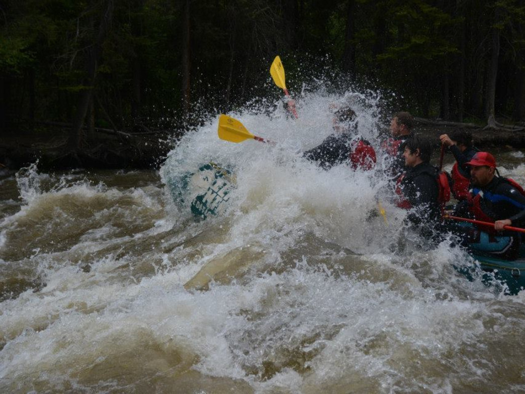 It's July and the Roaring Fork is still flowing at 1200 cfs. It's not to late to raft Slaughterhouse Falls this summer.