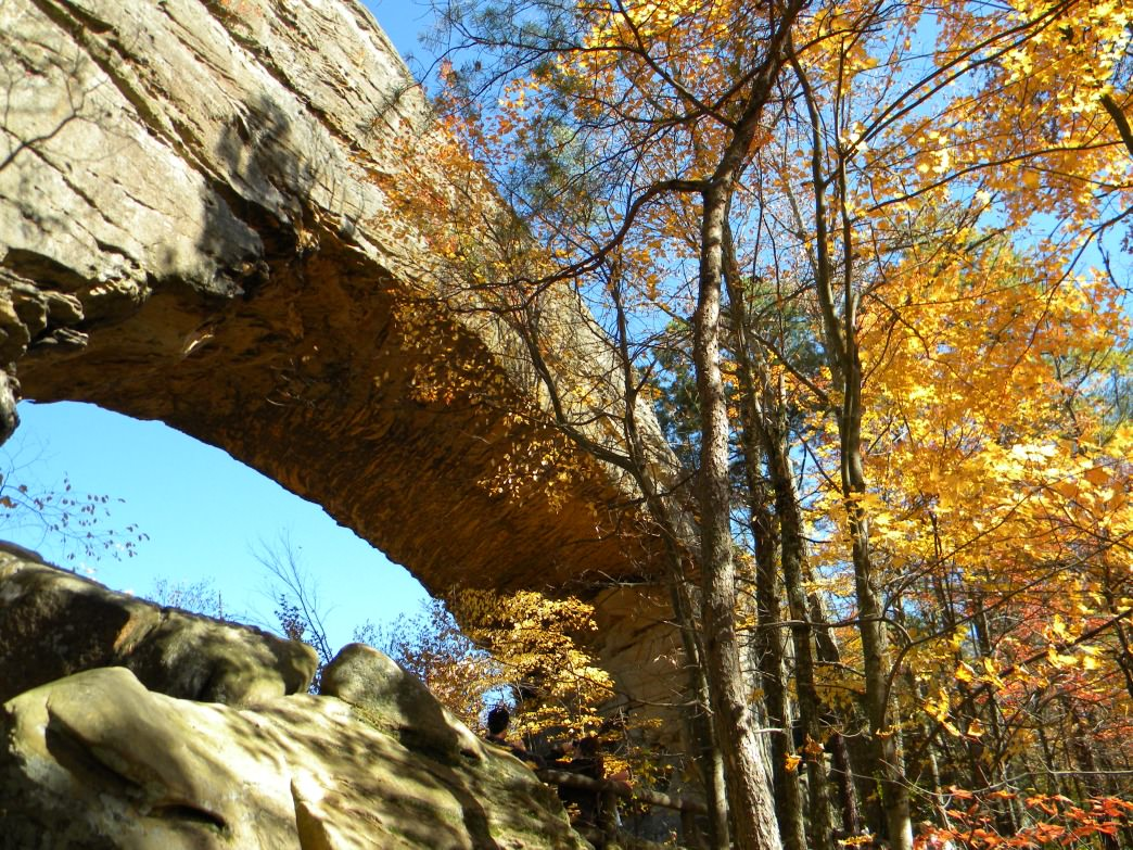 A view of the namesake rock formation at the Natural Bridge State Resort Park in Kentucky.
