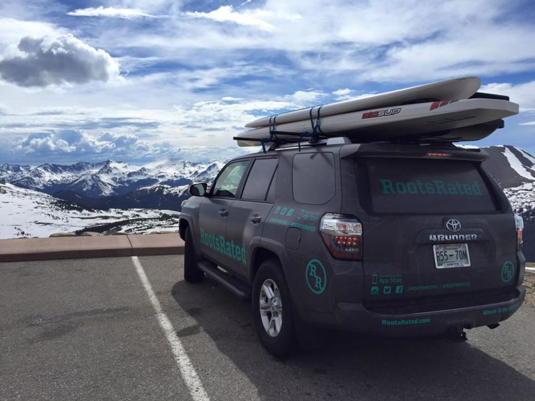 The RR Mobile taking in the ethereal views from Trail Ridge Road