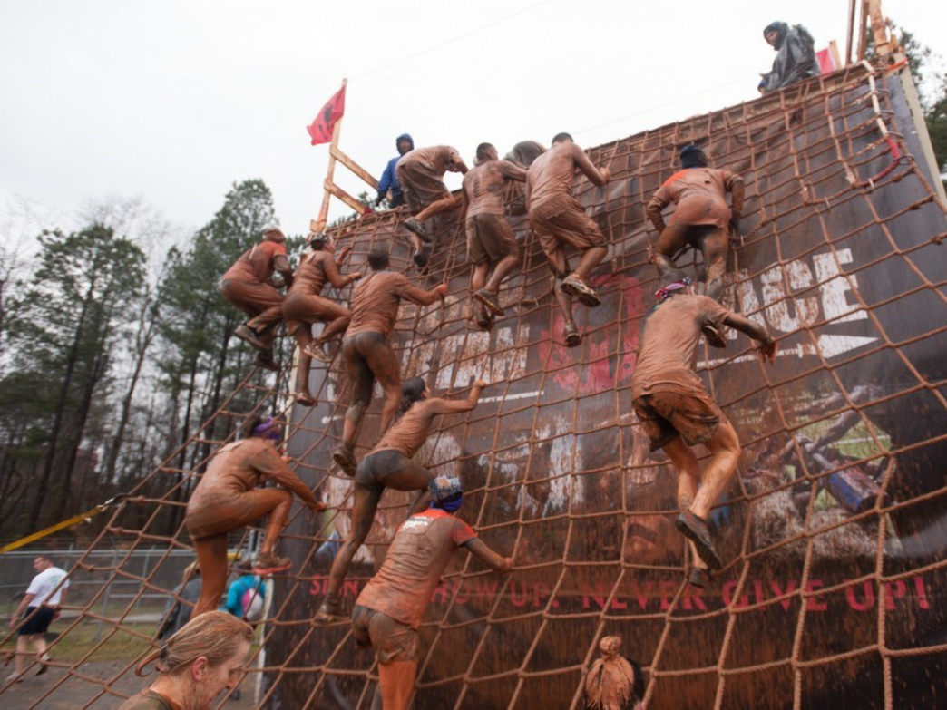 The Spartan Race features tough obstacles and plenty of mud.