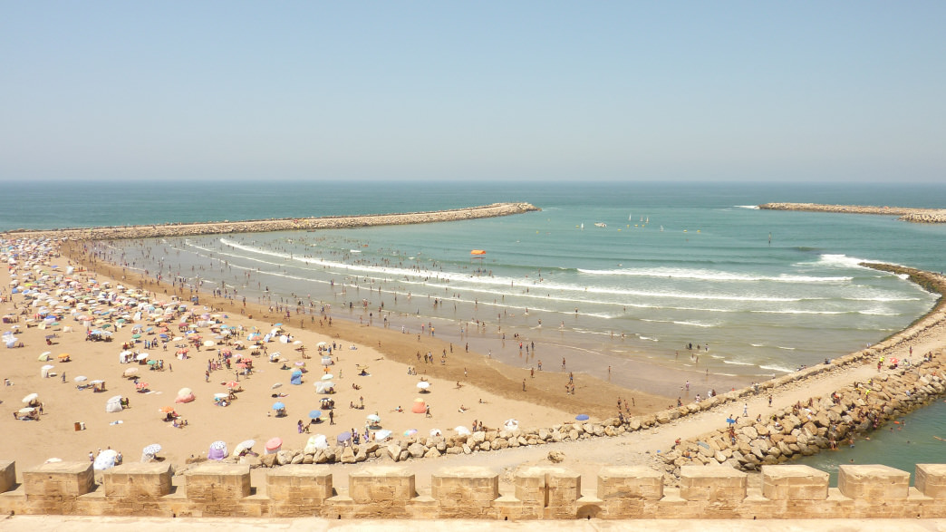 Morocco's capital of Rabat offers stunning coastline views.