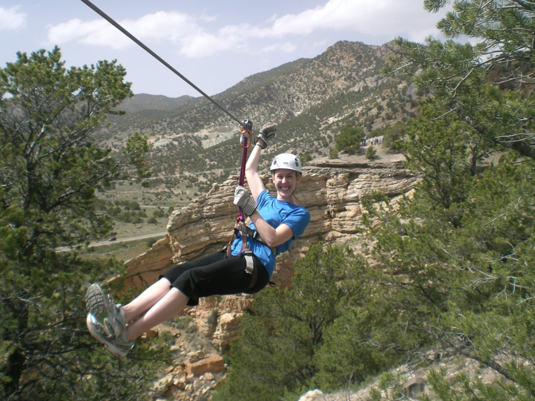 Captain Zipline's course whizzes through rugged canyons.
