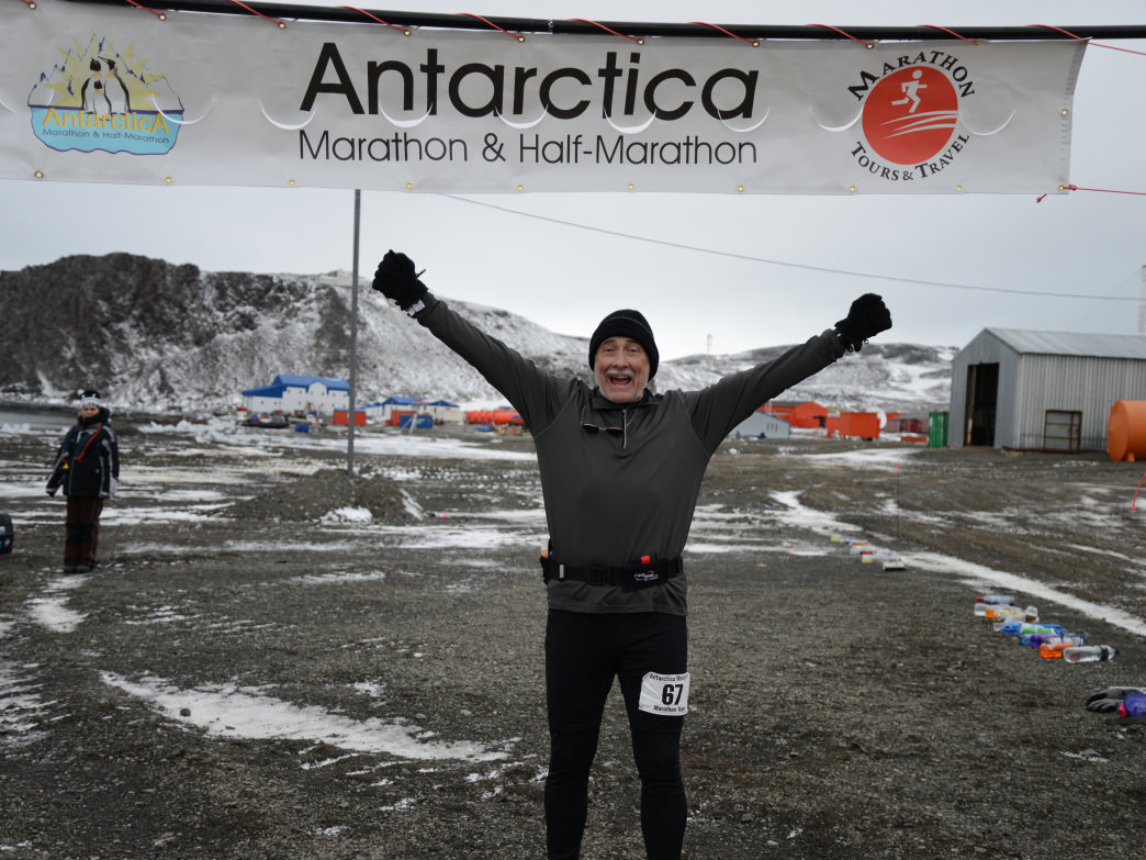 Truman finished his quest to run a marathon in all seven continents in 2013 during this Antarctica race!