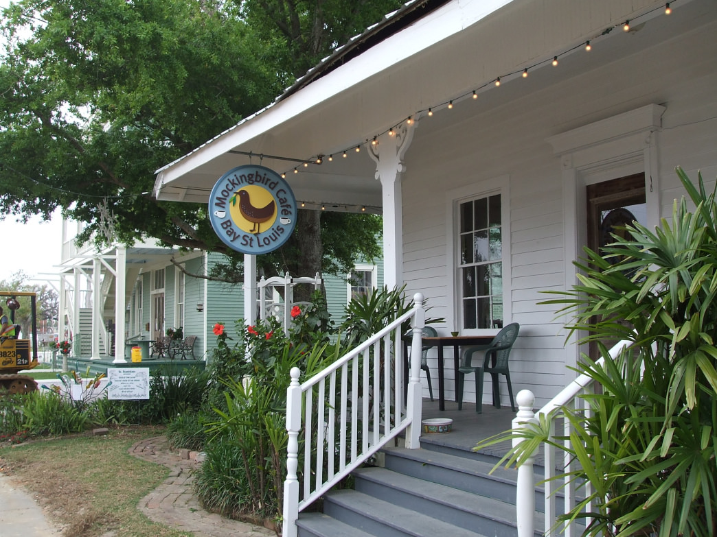The Mockingbird Cafe in Bay St. Louis boasts fine art along with some excellent biscuits.