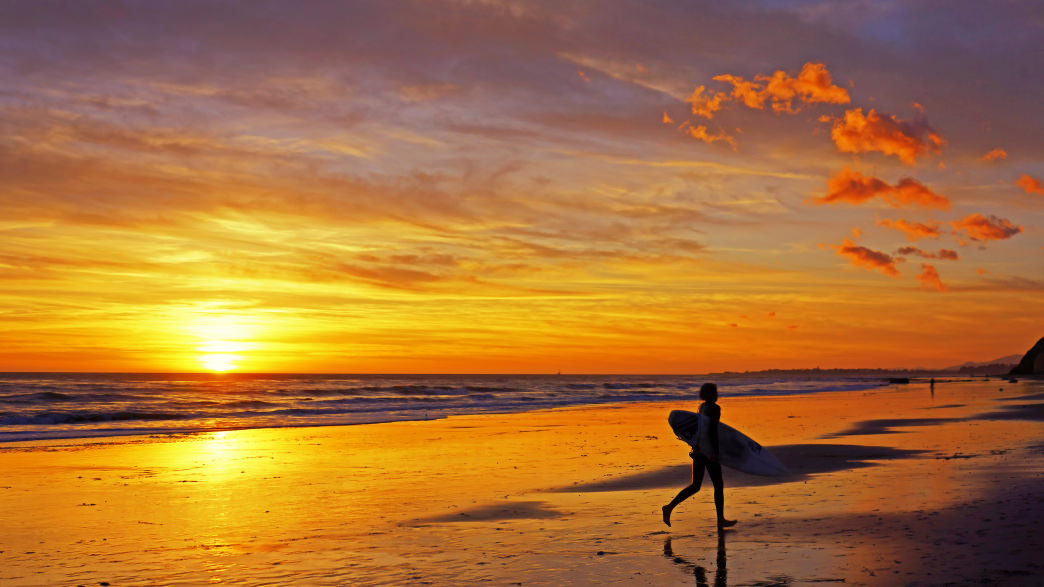 Santa Barbara is a big part of the state's surf culture, attracting both world-famous surfers and first-timers.