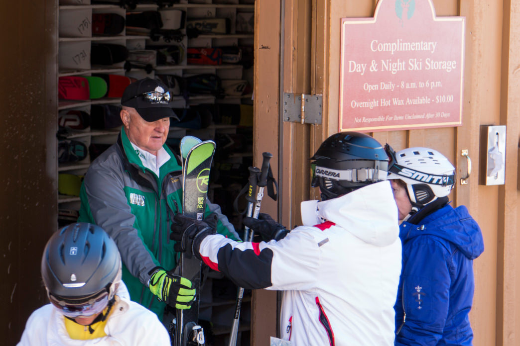 Deer Valley's complimentary ski storage means you don't have to lug them with you.