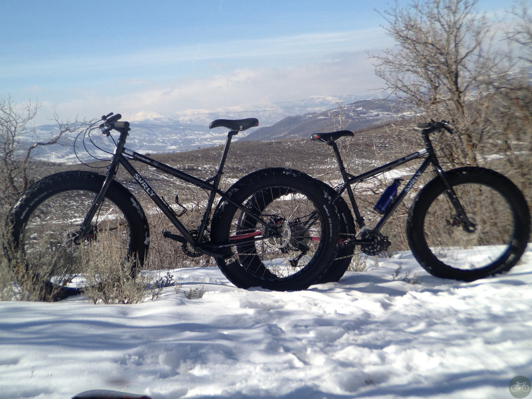 Two fat bikes ready for action in Park City.