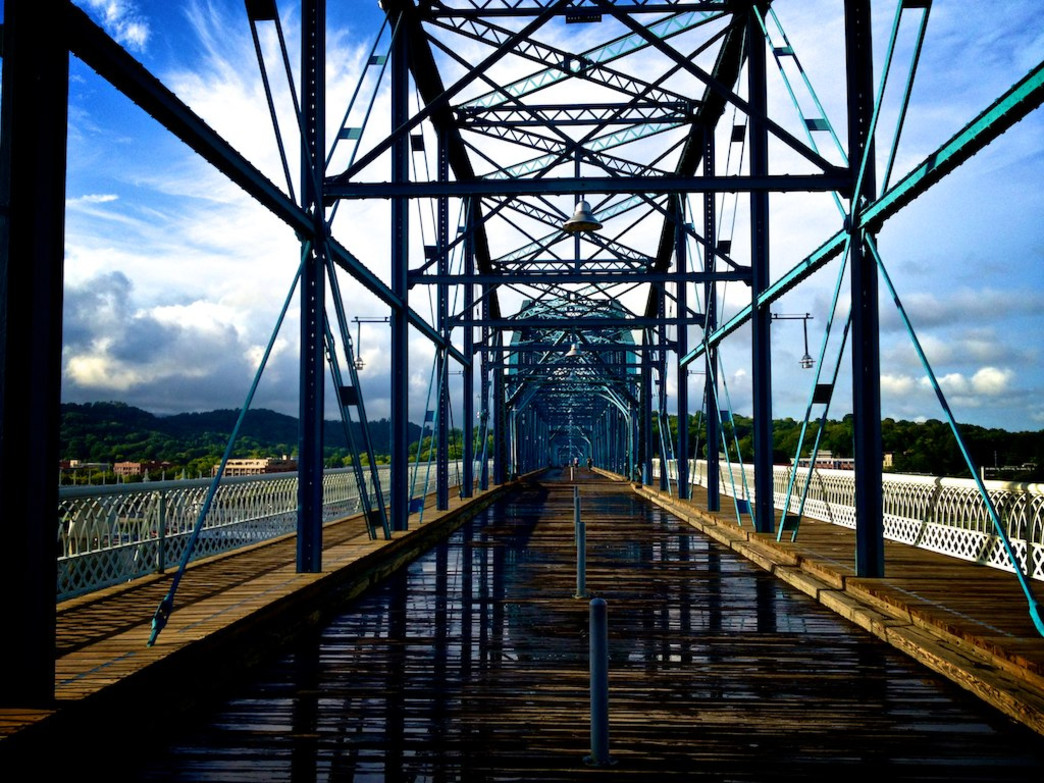 The Walnut Street Bridge primed for racers