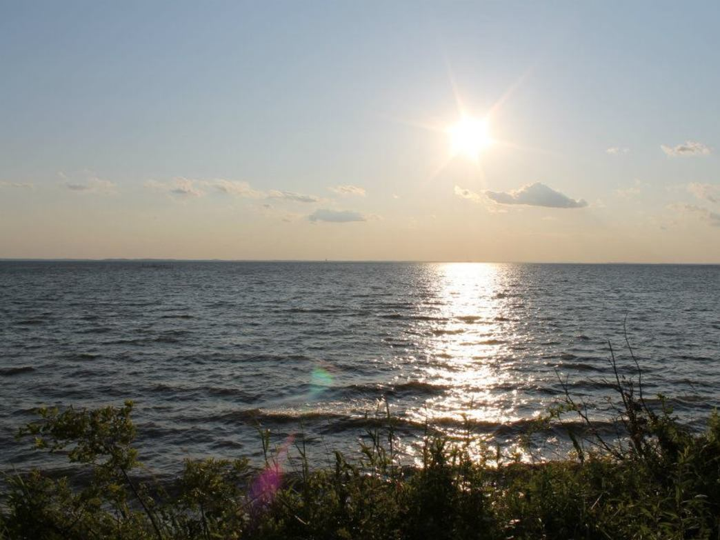 View from a campsite at Bayshore Campground.
