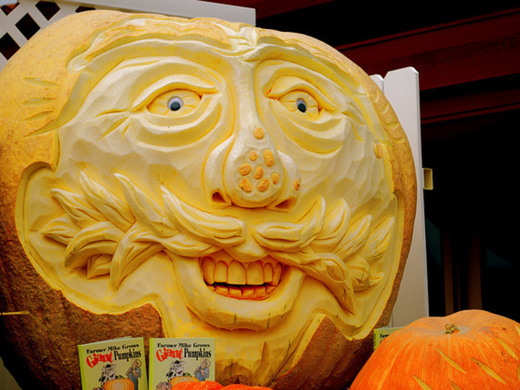 Some serious carving on display at the Half Moon Bay Art & Pumpkin Festival.