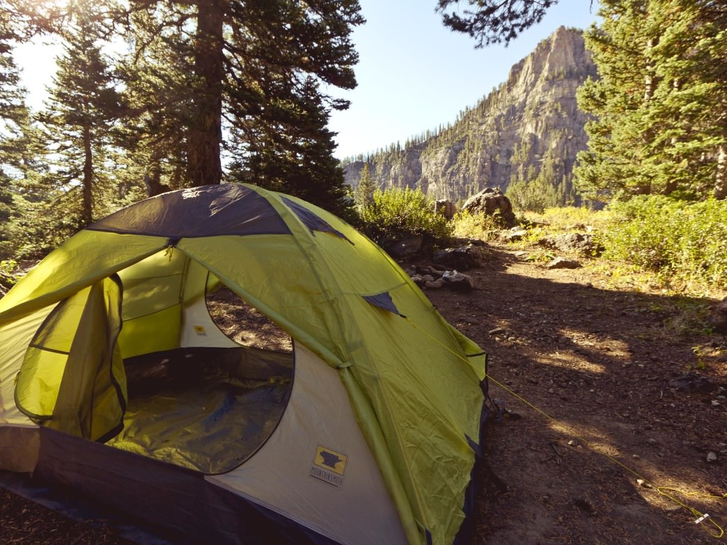 Camping in the Logan Canyon, Mount Magog, Utah.
