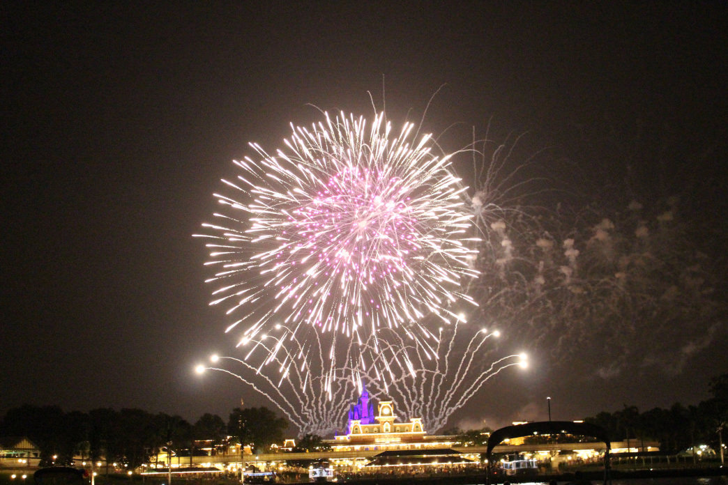 A cruise is a great way to enjoy the Disney fireworks.
