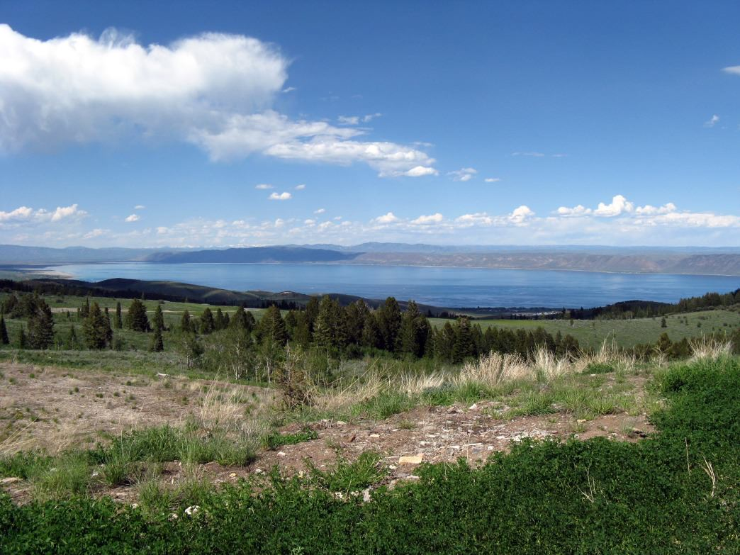 A scenic view of Bear Lake.