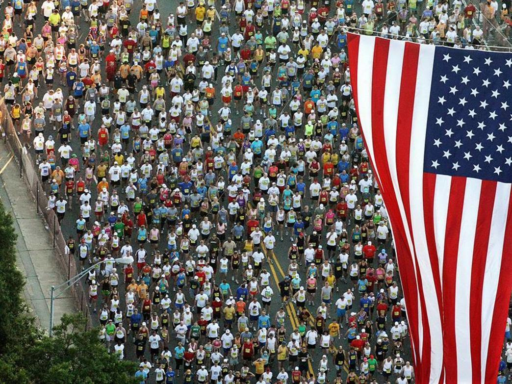 The start of the AJC Peachtree Road Race.